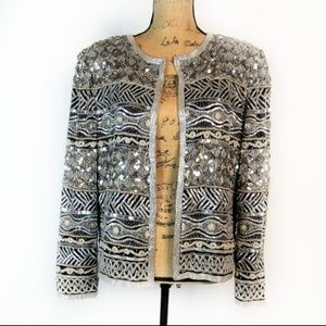 Vintage Adrianna Papell Evening Beaded Sequin